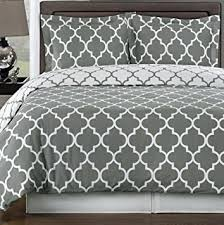 Geometric Duvet Cover Modern Geometric Grey And White Patterned Bedding Duvet Cover Set