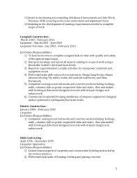 Carpenter Job Description Resume by Resume Of Sheldon Hall 2