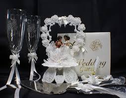 aladdin u0026 jasmin wedding cake topper lot glasses knife server