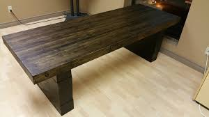 How To Build An Office Desk Picture Of The Finished Office Desk Projects Pinterest