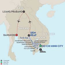 Saigon On World Map by Ho Chi Minh To Bangkok River Cruise Avalon Cruises
