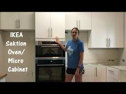 ikea kitchen cabinets microwave how to install the ikea sektion high cabinet with oven and micro combo