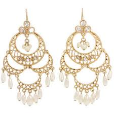 and pearl chandelier earrings carolee retro pearls large chandelier earrings gold white