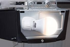 resource industries garage door genie led garage door opener light bulb 60 watt 800 lumens