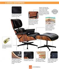 eames lounge chair replica white with a black base manhattan