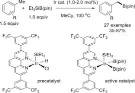 cat orie si e auto b recent advances in catalytic c h borylation reactions sciencedirect