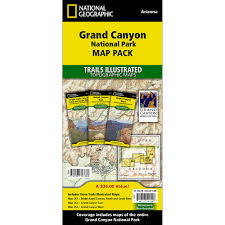 Us National Parks Map Grand Canyon National Park Trail Maps Map Pack Bundle National
