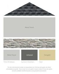 House And Shutter Color Combinations by Fresh Color Palettes For A Gray Or Black Roof