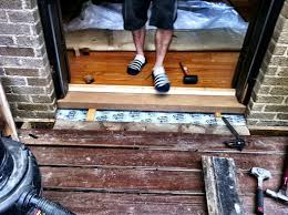 Door Thresholds Exterior Door Threshold Sill Replacement A Home In College Hill