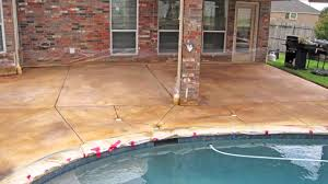 Covering Old Concrete Patio by Staining Concrete Patio And Deck U2014 Home Ideas Collection How To