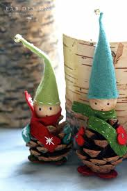eab designs pine cone elves diy craft