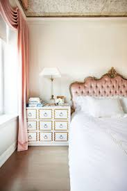 Chanel Inspired Home Decor An Old World Inspired Bedroom With A Pink Upholstered Headboard