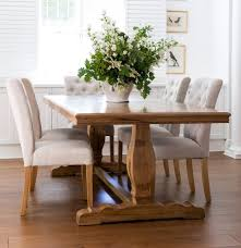chic potted plant for farmhouse style dining table with five