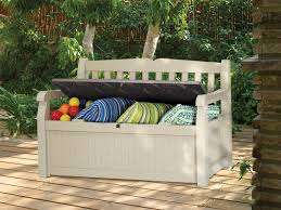 Outside Storage Bench Keter Plastic Garden Storage Bench Box 270 Litre In Seat