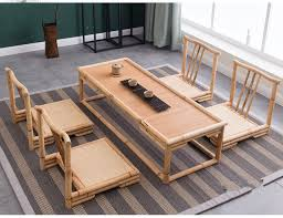 Japanese Living Room Furniture 5pcs Set Modern Bamboo Furniture Sets Floor Table Japanese Style