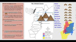 13 Colony Map 13 Colonies Map Youtube