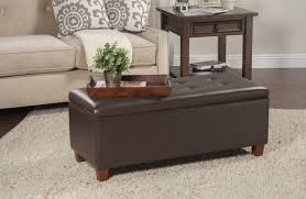 Large Leather Ottoman Leather Bench Ottoman Stool With Storage Ottoman Bench