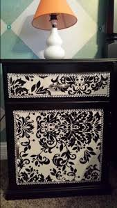 matte black wrapping paper black and white refurbished nightstand painted matte black deco