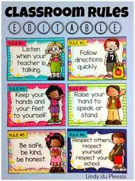 printable instructions classroom classroom rules that are tangible and easy for younger students to