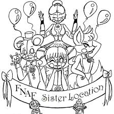 coloring pages fnaf sister location app store