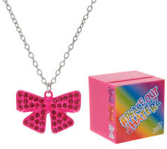 jojo s earrings jojo siwa pave rhinestone bow necklace with singing box