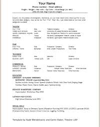 Audition Resume Sample by Clever Design Ideas Acting Resume Sample 8 Template Cv Resume Ideas
