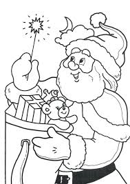 santa claus free printable coloring pages reindeer kids