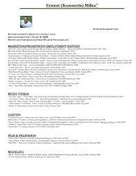 Video Production Resume Samples by Ernest Konnects Miles Entertainment Resume Pdf