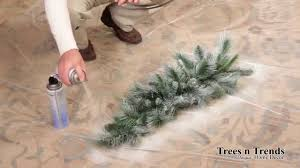 how to flock or snow spray a tree wreath or garland
