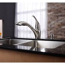 kraus pull out kitchen faucet kraus kpf 2210 ksd 30sn single lever pull out kitchen faucet and
