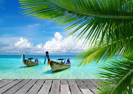 tropical sea view wallpaper wall mural wallsauce usa save your design for later