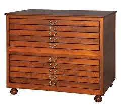 10 Drawer Cabinet 2 Stackable Five Drawer Flat File 10 Drawers Total Amish