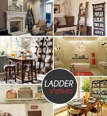 Leaning Ladder Bookcases by Stepping It Up In Style 50 Ladder Shelves And Display Ideas