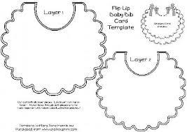 flip up baby bib card template cu4cu cup337254 99 craftsuprint