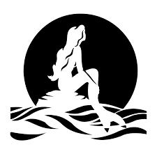 little mermaid stencil free download clip art free clip art