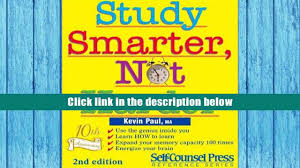 pdf study smarter not harder self counsel business series kevin
