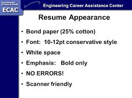 Resume Bond Paper Engineering Career Assistance Center Resume Creation For Me 302