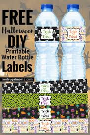 free printable halloween labels free halloween diy printable water bottle labels u2013 two frugal moms