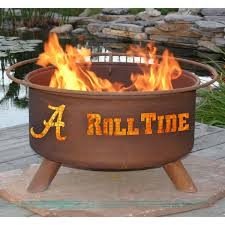 Firepit And Grill by Patina 31 In College Fire Pit With Grill And Free Cover Hayneedle