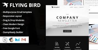 flying bird multipurpose email template by designcrazzy themeforest