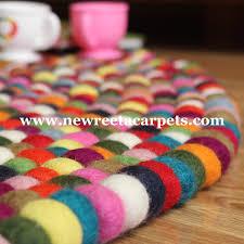 Nepal Felt Ball Rug Multi Color Felt Ball Rug New Reeta Carpets Nepal