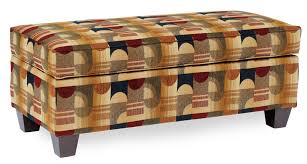 Rectangular Storage Ottoman Rectangular Storage Ottoman With Tapered Legs By Smith Brothers