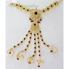 ring bracelet necklace images Bracelet with ring hand bracelets with 5 finger rings for wedding jpg