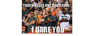 Miami Memes - danny s meme den miami nebraska game the miami hurricane
