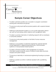 Sample Career Objective For Resume Objective Career Objective Resume