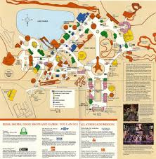 America Rides Maps by Kings Dominion 1987 Park Map