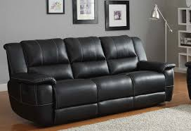 Black Leather Sofa Recliner Homelegance Cantrell Sofa Recliner Black Bonded Leather