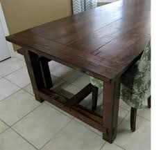 how to stain pine table home dzine home diy how to make a farmhouse table
