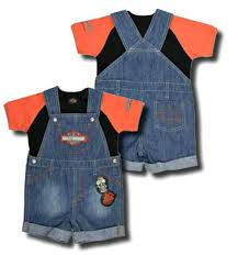Harley Davidson Baby Bed Set Harley Davidson U0026reg Boys U0027 Denim Shortall Set 2 Piece Infant