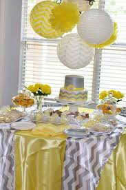 yellow and gray baby shower co ed baby shower yellow white and gray brilliant